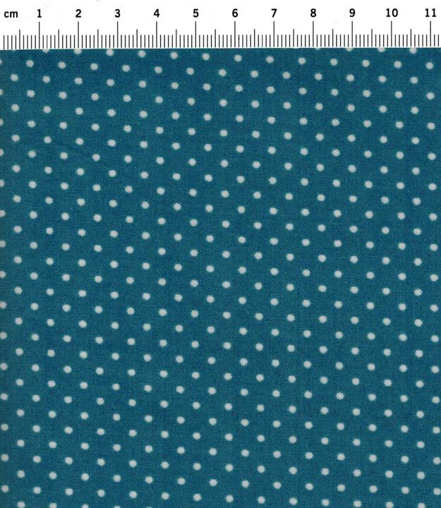 Beschichtete Baumwolle Jeansblau Punkte 50x67 cm