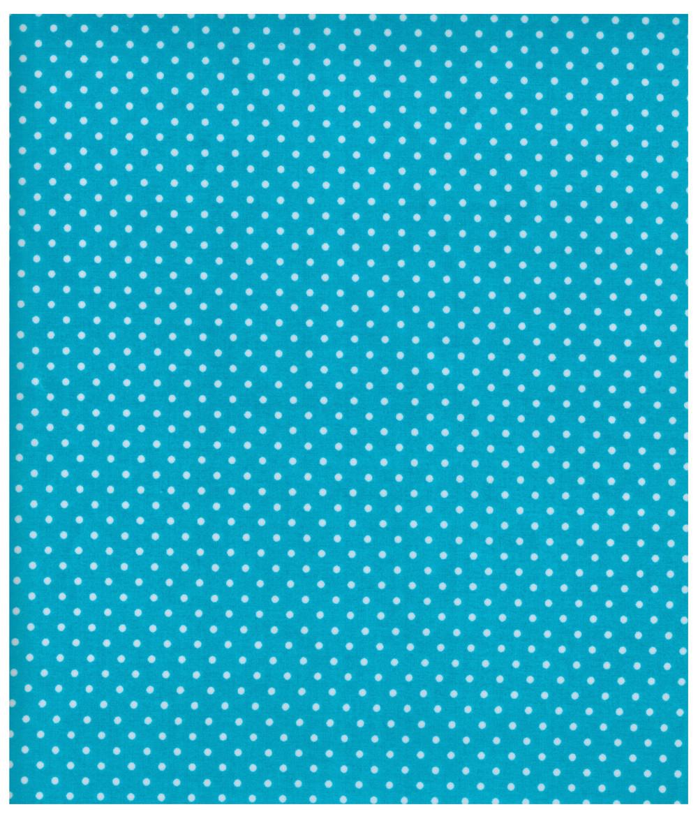 Beschichtete Baumwolle Punkte auf Türkis 50x67 cm - 1