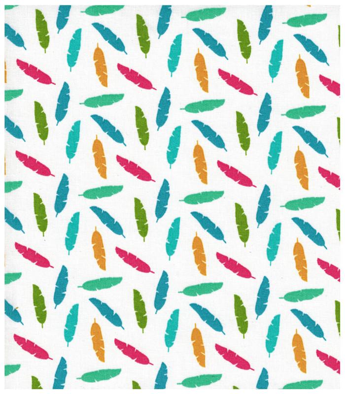 Beschichtete Baumwolle - Federn 50x68cm - 2