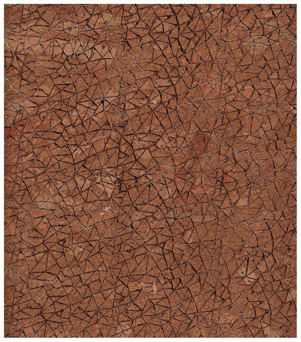 Korkstoff mit Glitzernetz - Stück � 50 x 65 cm