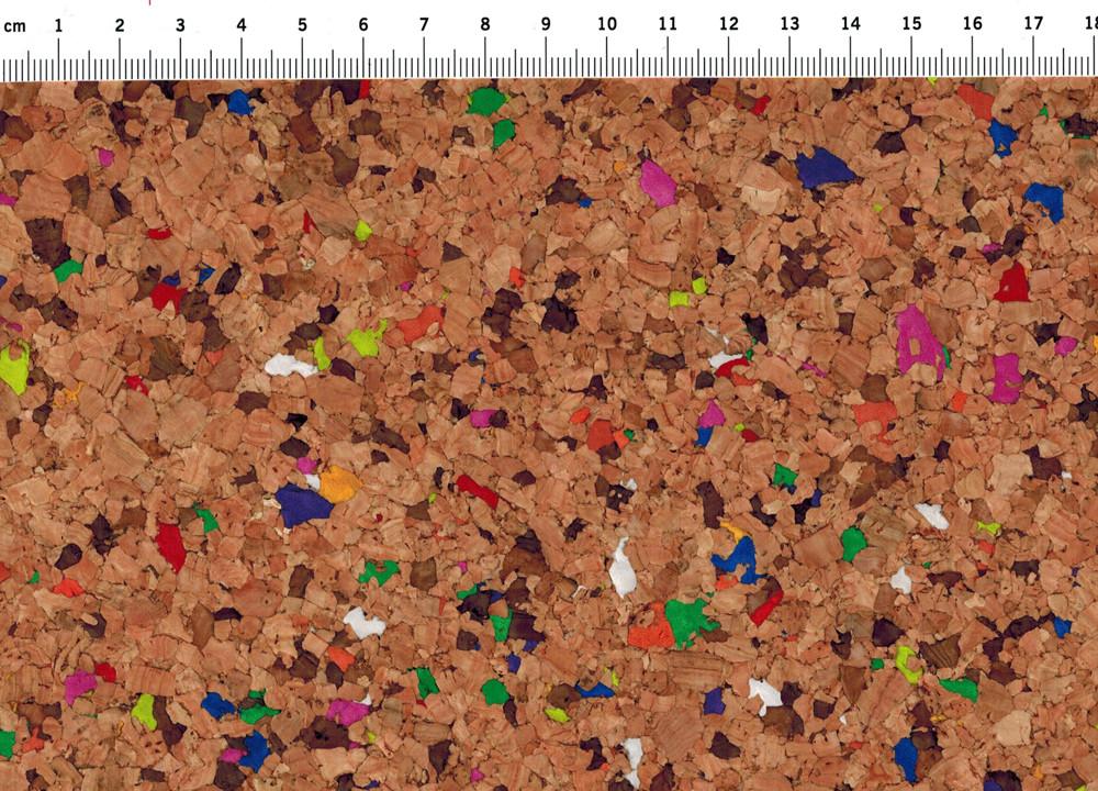 Korkstoff mit bunten Anteilen- Stück 50 x 65 cm - 2