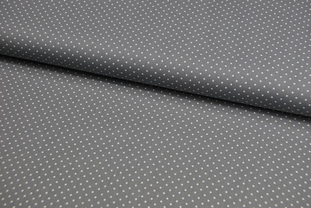 Petit Dots auf Grau - Baumwolle 0,5 m - 1