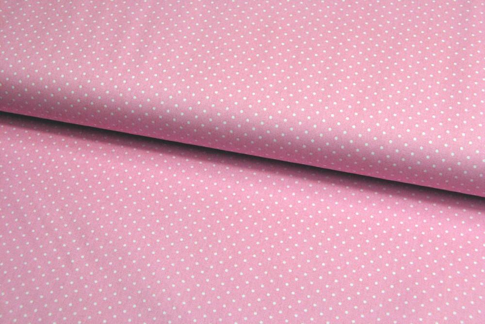 Petit Dots auf blasses Rosa Baumwolle - 1