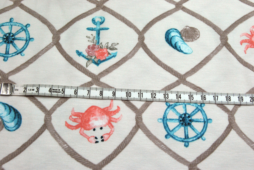 Organic Cotton Jersey Maritime Motive 05m