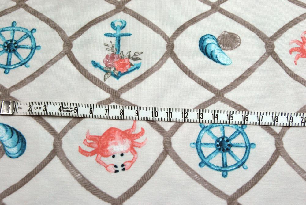 Organic Cotton Jersey - Maritime Motive - 0,5m