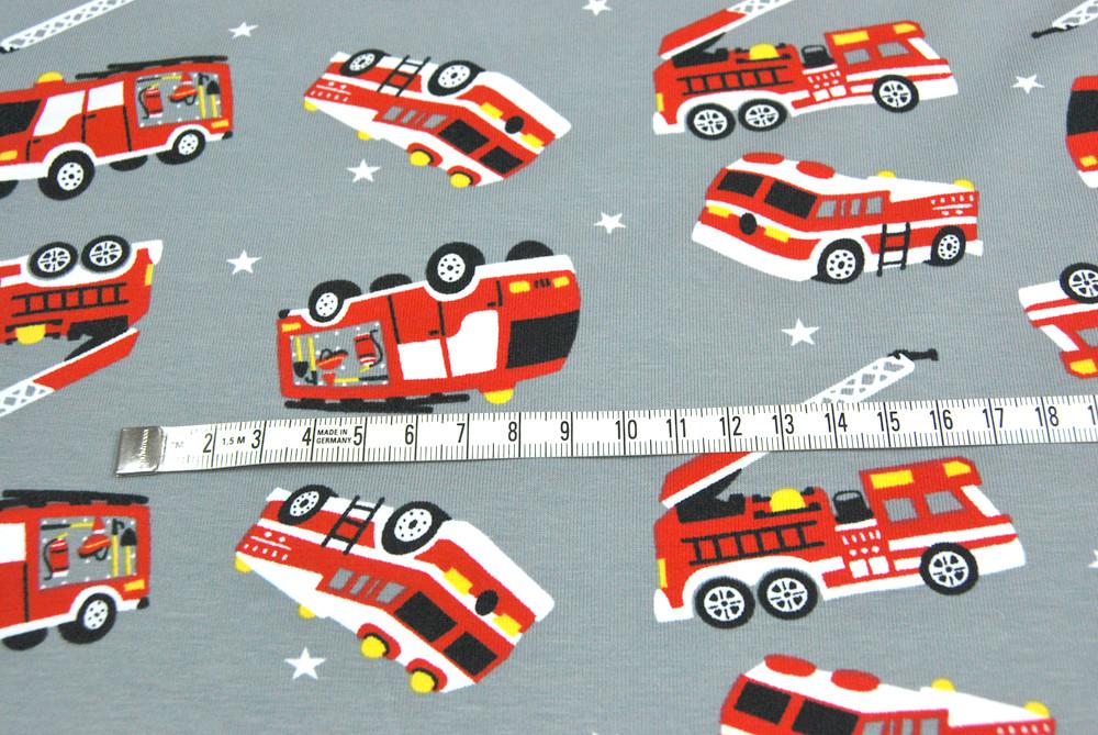 Jersey - Feuerwehr auf Hellgrau - 0,5m