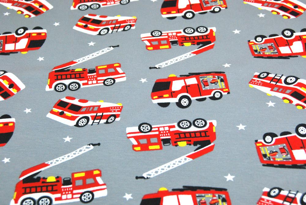 Jersey - Feuerwehr auf Hellgrau - 0 5m