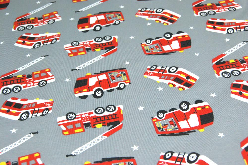 Jersey - Feuerwehr auf Hellgrau - 0,5m - 4