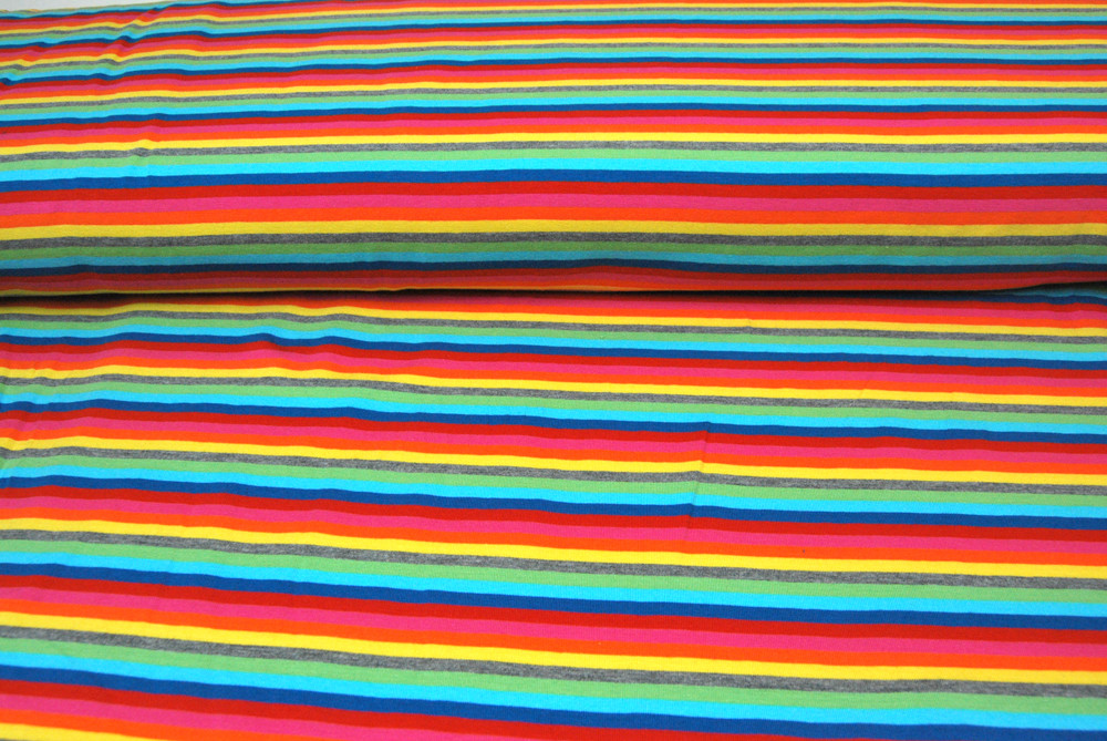 Jersey - Bunte Streifen - 0.5 Meter