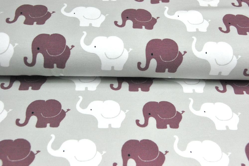 JERSEY Elephant Parade in Bordeaux-Weiß 05m