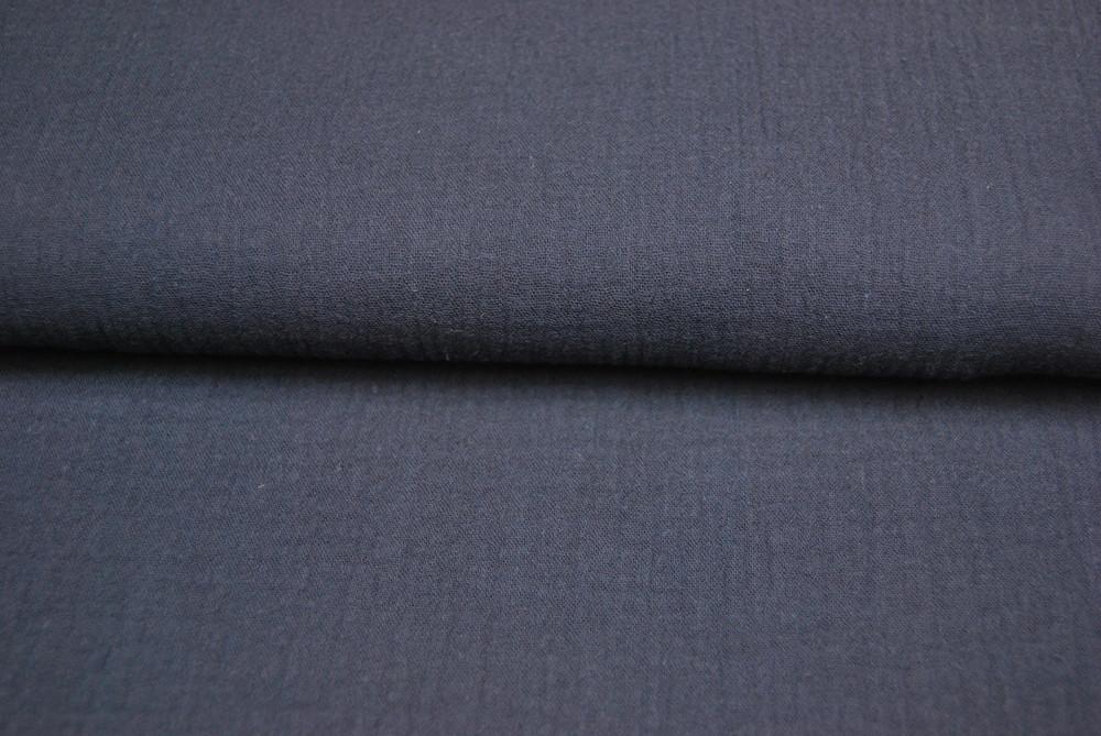Musselin/Double Gauze - Uni Blau 0.5m