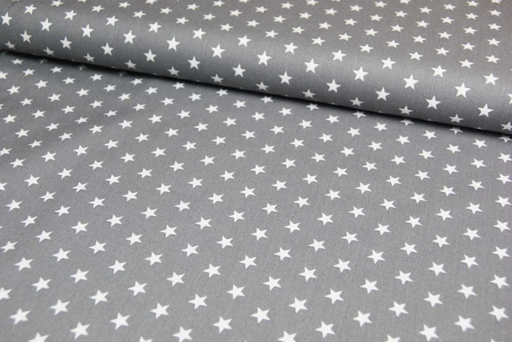 Petit Stars - Sterne auf Grau - Baumwolle 0,5m - 1