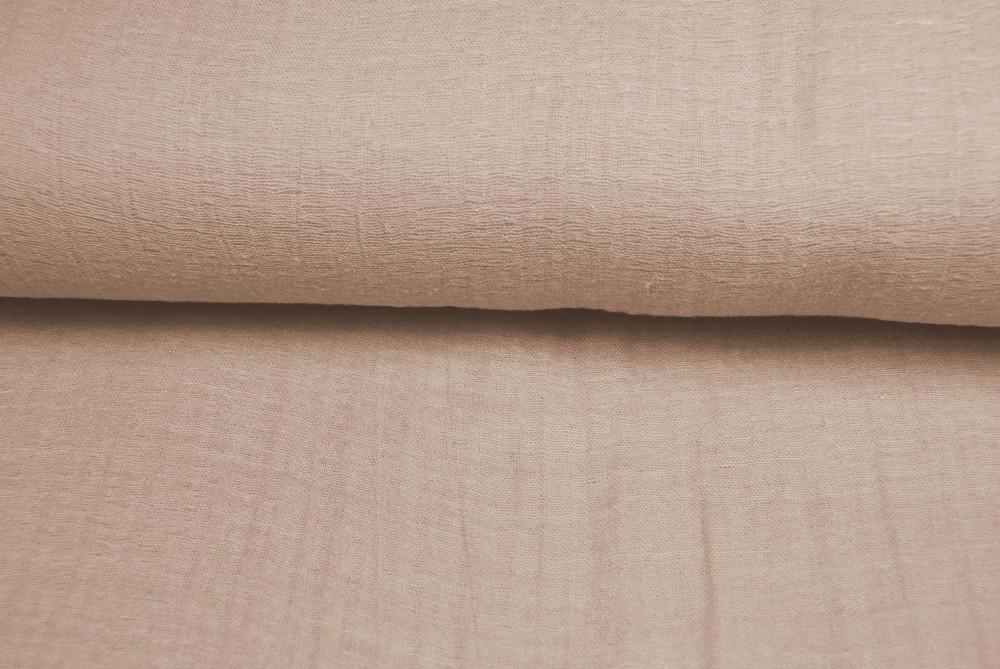 Musselin Uni Sandfarben 0.5m