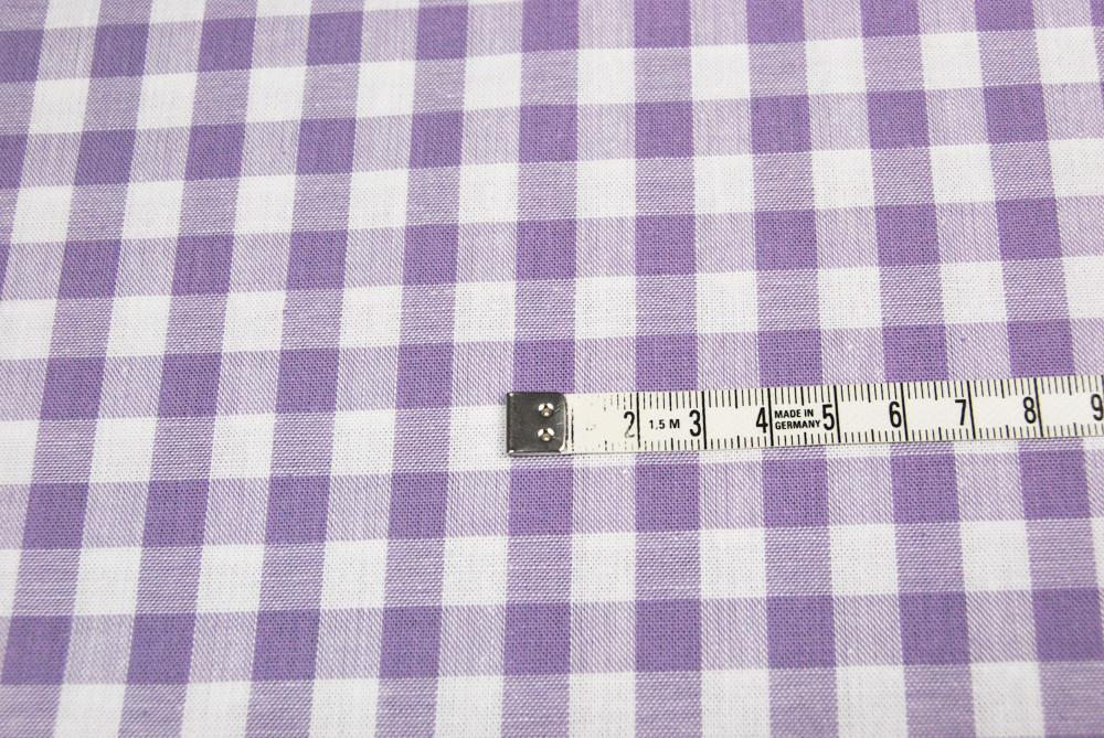grosses Karo Lila - Baumwolle 0 5m / Zefir 0.9 cm