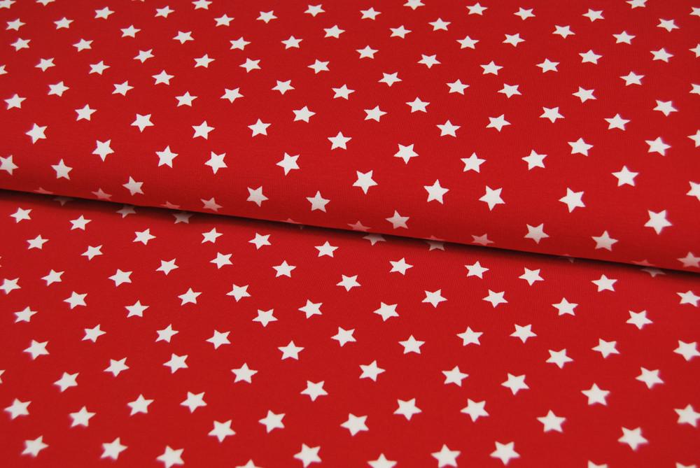 Jersey - Weiße Sterne auf Rot 0,5 Meter