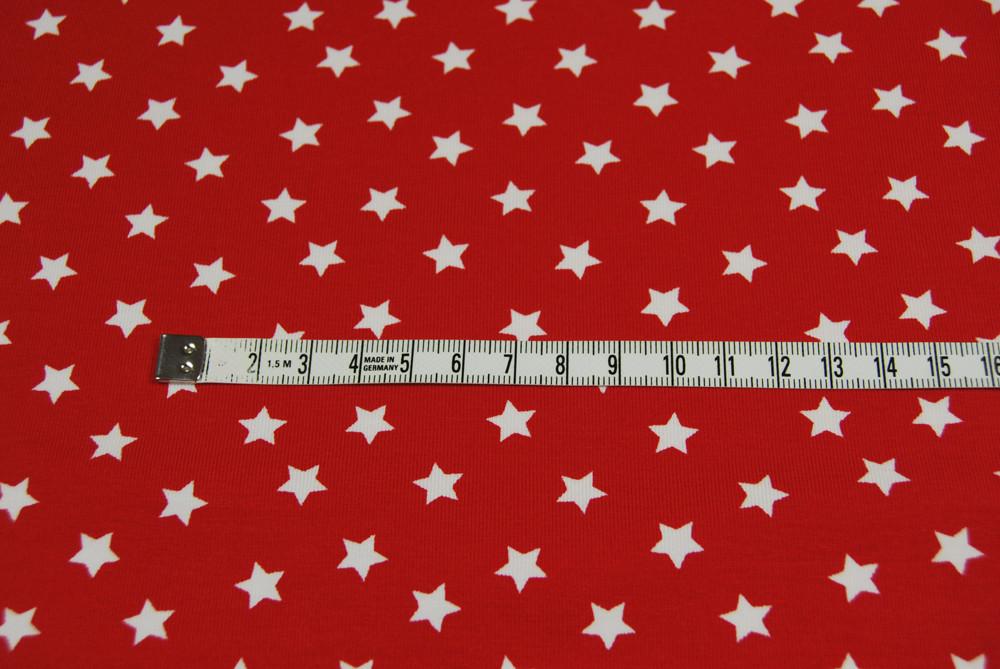 Jersey - Weisse Sterne auf Rot 0 5 Meter
