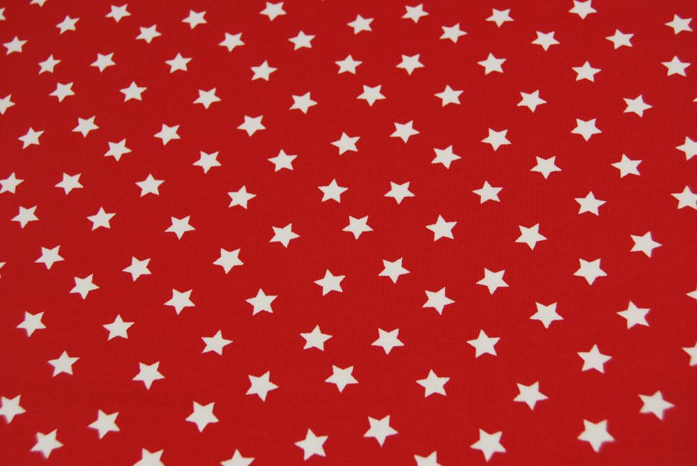 Jersey Weiße Sterne auf Rot Meter