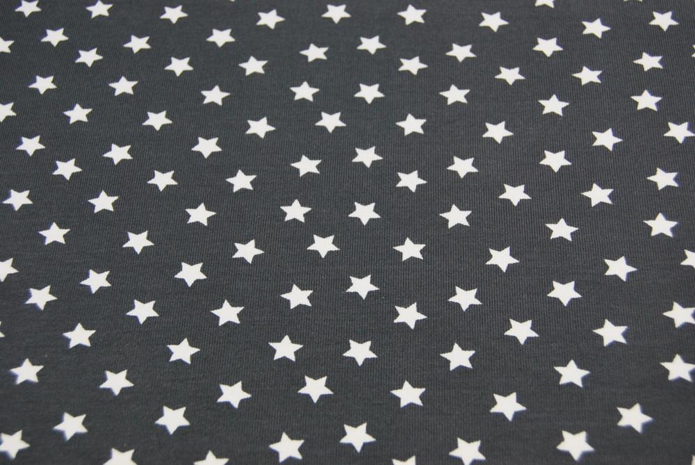 Jersey - Weiße Sterne auf Dunkelgrau