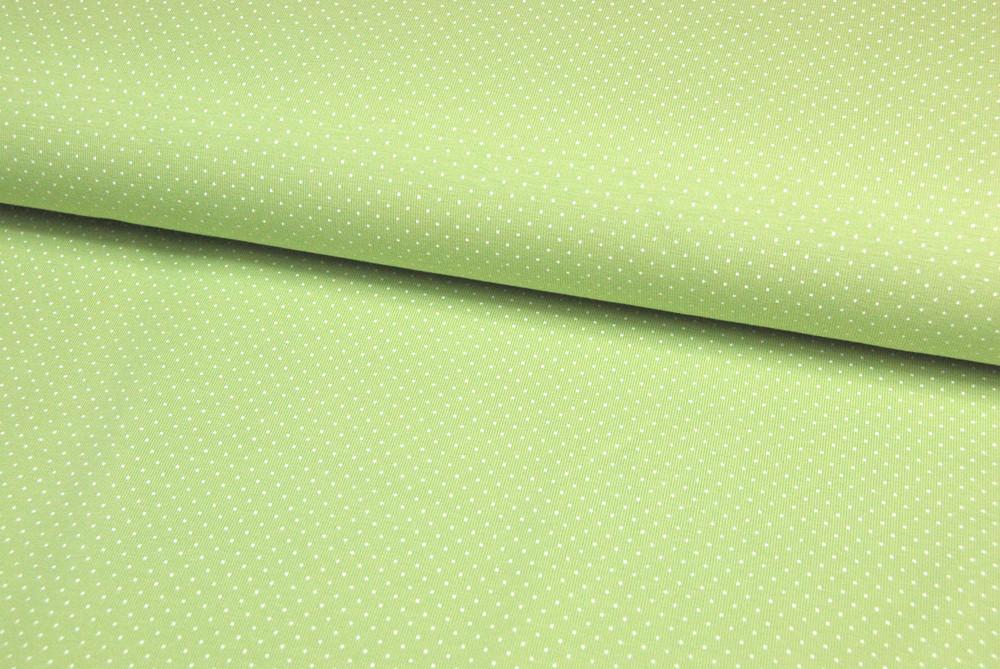 JERSEY Frühlingsgrün mit weißen Minipunkten 05