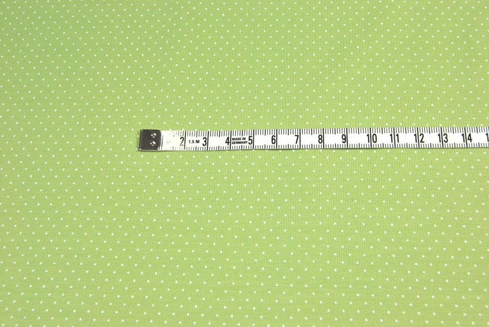 JERSEY Fruehlingsgruen mit weissen Minipunkten 0 5 m