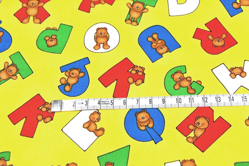 Alpha Bears Buchstaben und Bären Baumwolle