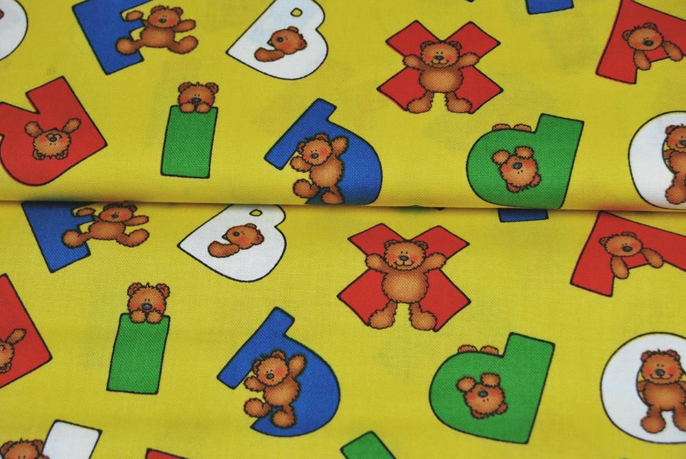 Alpha Bears - Buchstaben und Baeren Baumwolle 0 5m