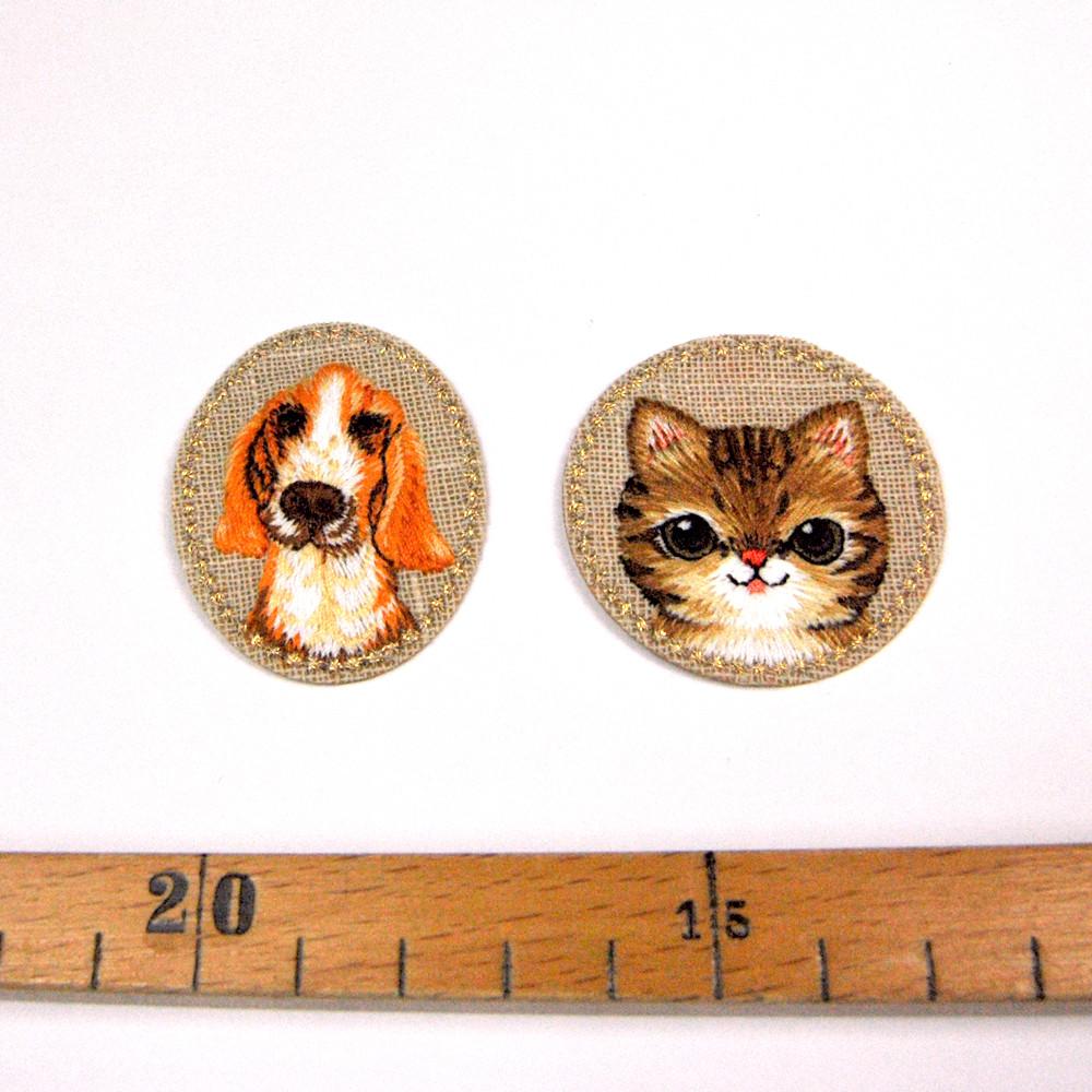 Aufbügler Set: Hund / Katze