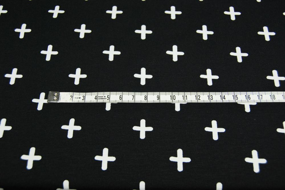 JERSEY - PLUS Zeichen auf Schwarz - 0,5m