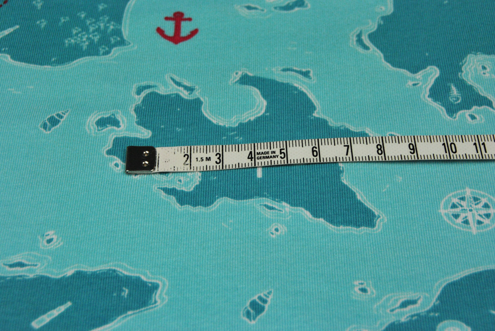 Jersey - Schatzkarte / Seekarte 0 5 m
