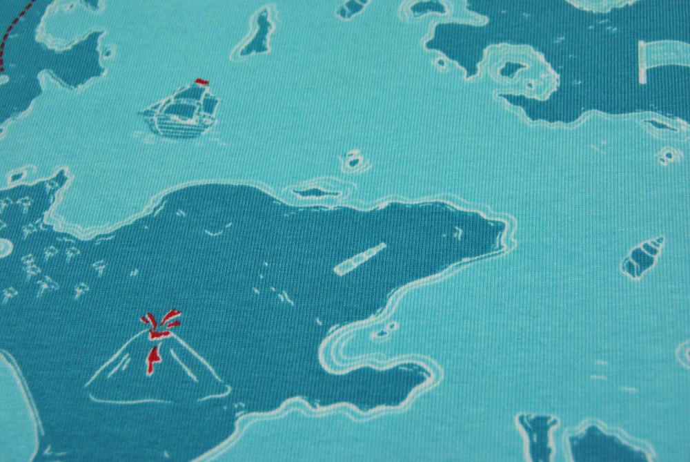 Jersey - Schatzkarte / Seekarte 05