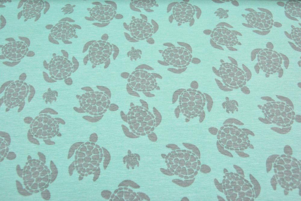 JERSEY - Schildkröten - Ilja Fabrics