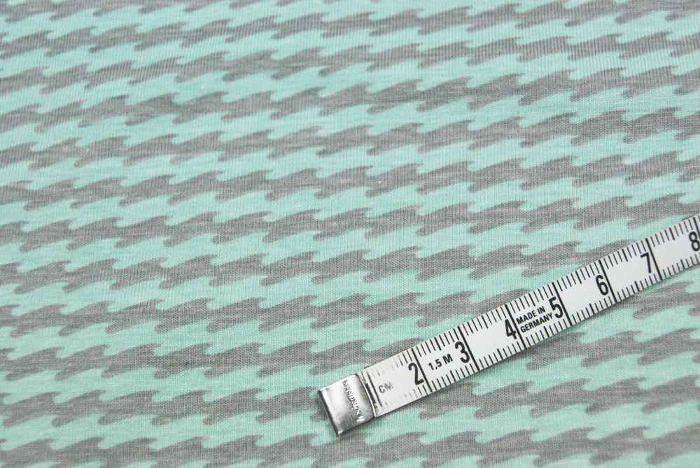 JERSEY - Wellenmuster - Ilja Fabrics 0 5m
