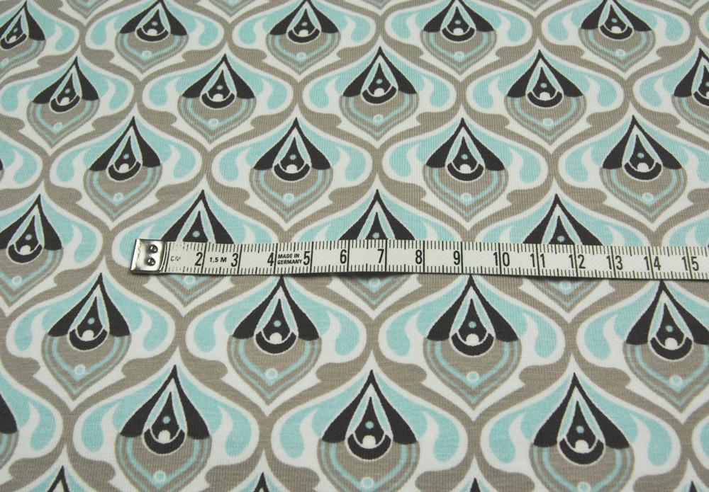 JERSEY Graphisches Muster 70ziger Look 05m
