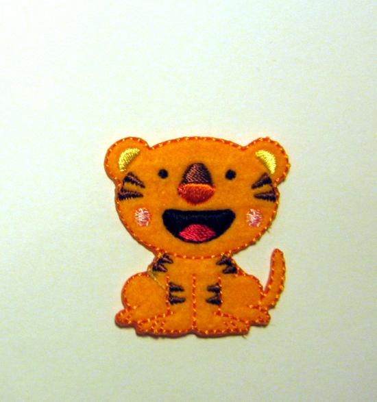 Aufbügler Kleiner Tiger