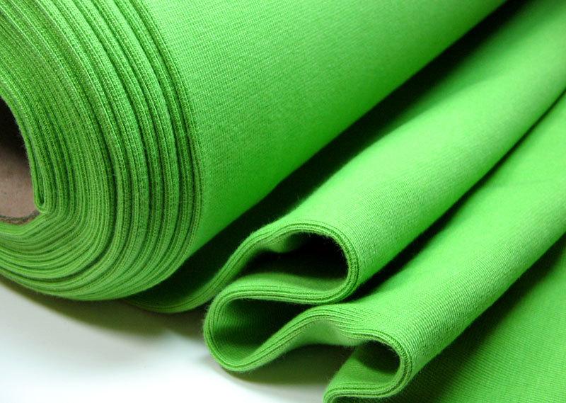 Bündchen Uni Grassgrün, 25cm im Schlauch