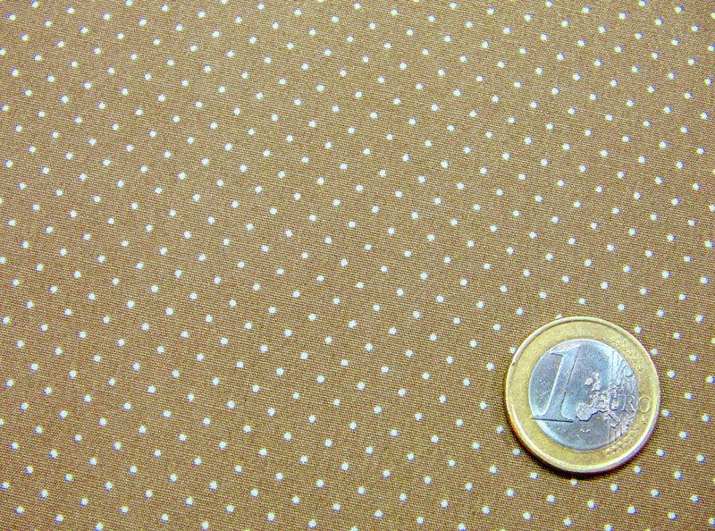 Cappuccino Baumwolle mit Minipunkte 0,5m