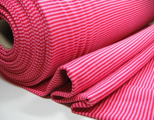 Bündchen in Rot-Rosa; 25cm im Schlauch