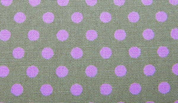 Rosa Punkte auf beige Baumwolle 05m