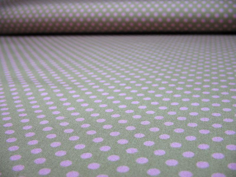 Rosa Punkte auf beige Baumwolle 0 5m