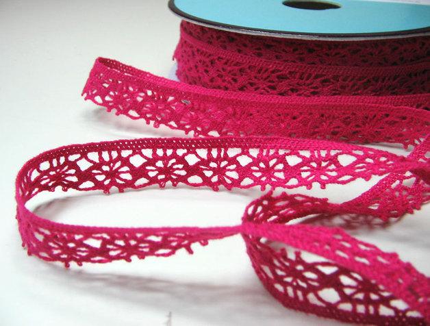 Häkelspitze in Pink - 1 Meter