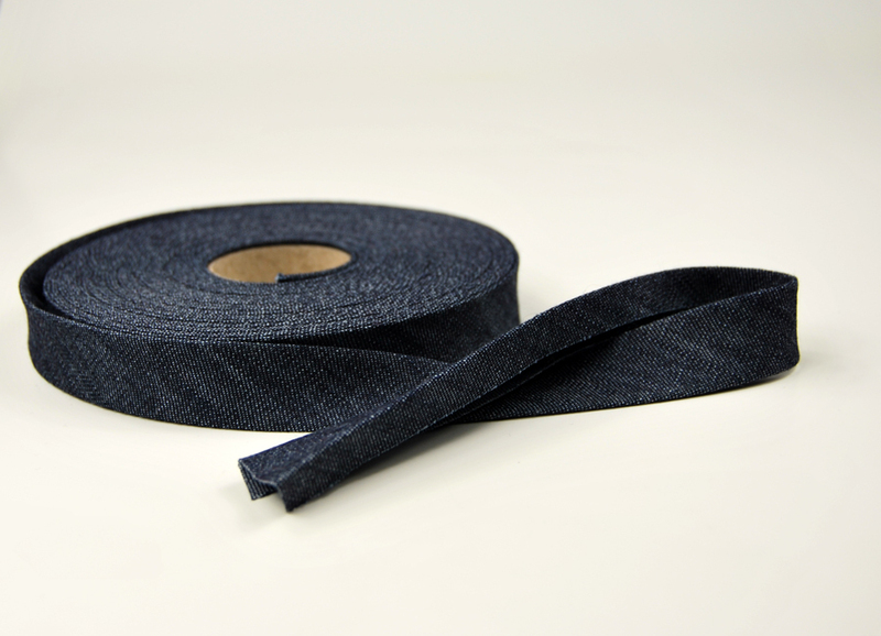 Schraegband 1 Meter Jeans