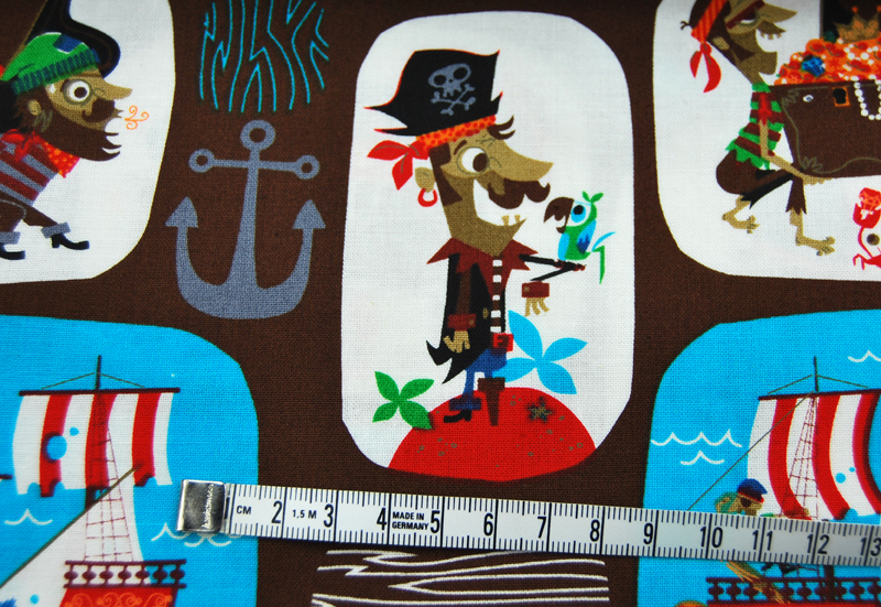 Piraten Baumwolle - 05 meter - 3