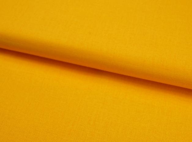 Sonnengelbe Baumwolle Uni 05 Meter - 1