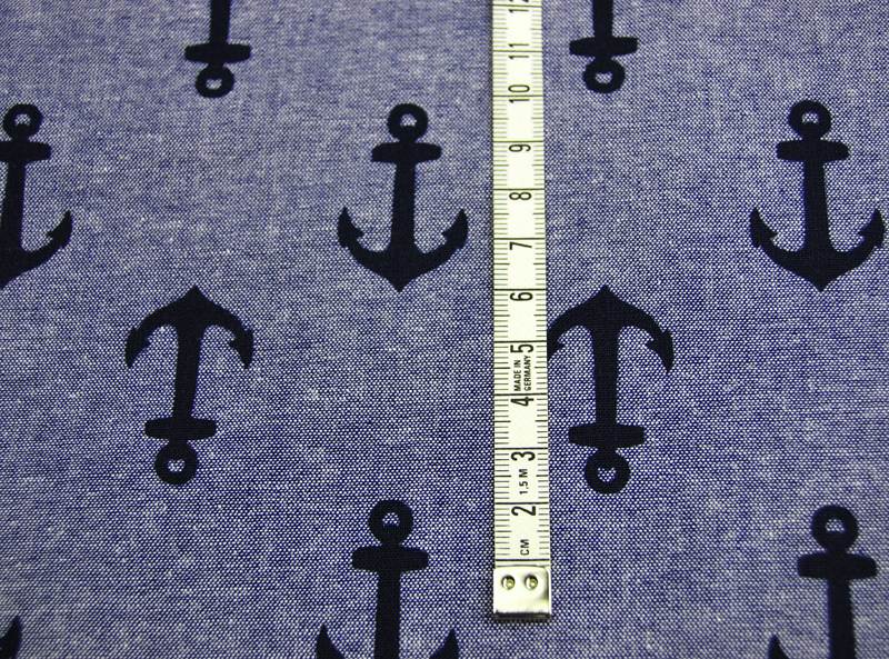 Nautique Chambray Prints von Kaufman - Blau - 0,5m - 3