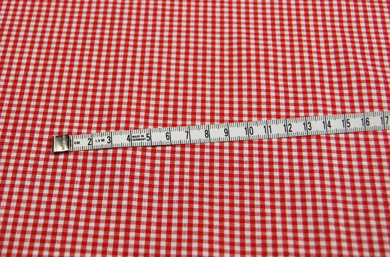kleines Karo Rot - Baumwolle 0 5 Meter