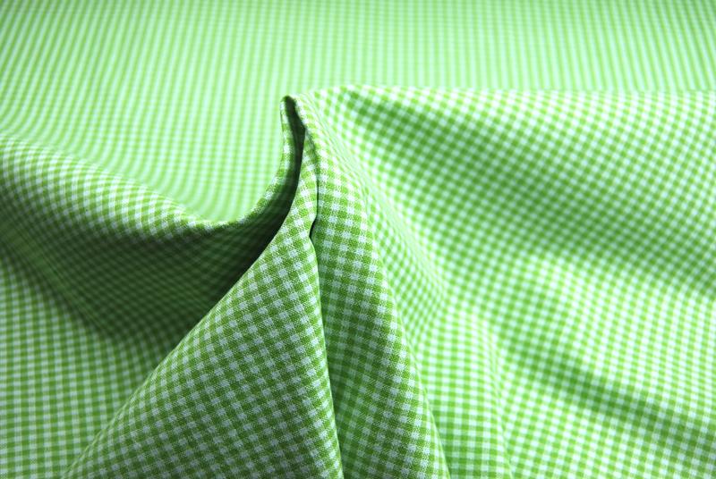 kleines Karo Grün - Baumwolle 05