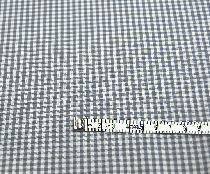 kleines Karo Grau - Baumwolle 0 5 Meter