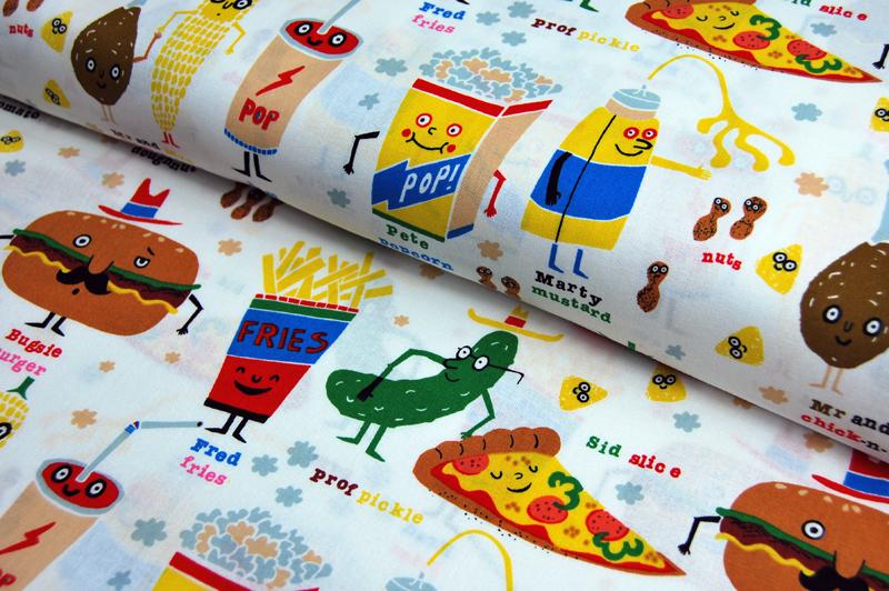 snappy snacks - Baumwolle von A. Henry 0,5 m - 1