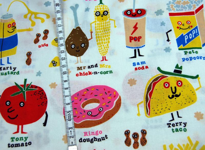 snappy snacks - Baumwolle von A. Henry 0,5 m - 3