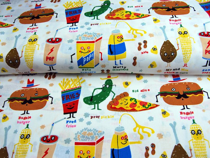 snappy snacks - Baumwolle von A. Henry 0,5 m - 4